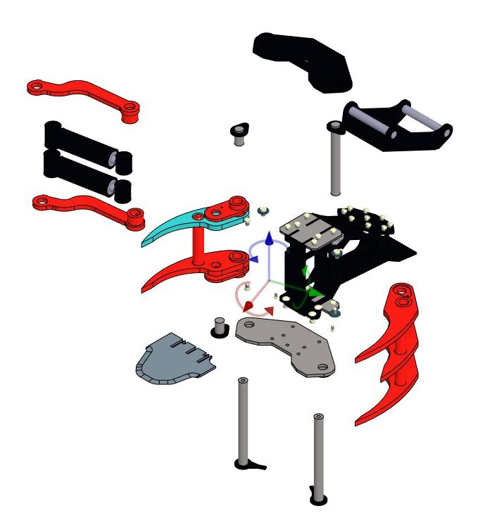 KX-280 Tree shear assembly parts